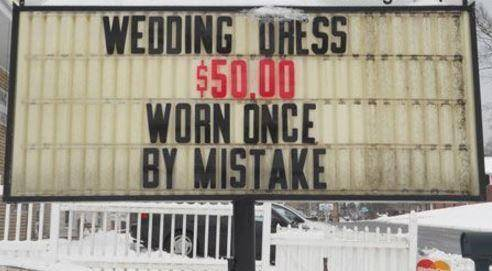 The funniest pawn shop signs ever for Pawn shops that buy wedding dresses