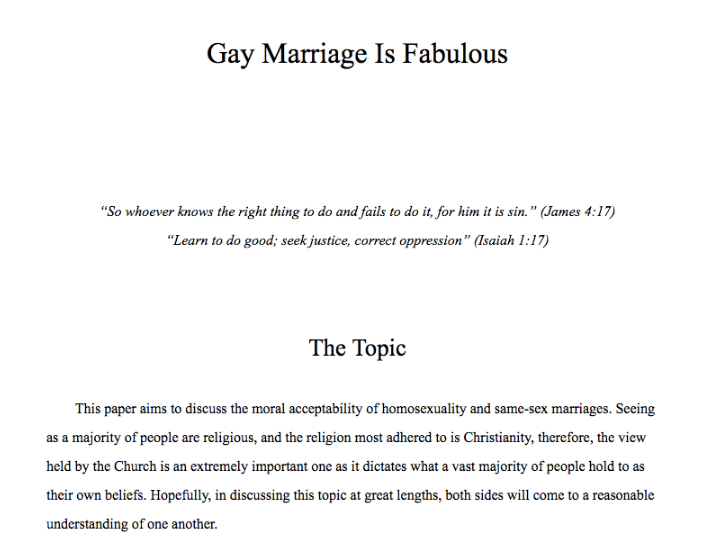 this student responded to a homophobic assignment a page here s an excerpt from the paper