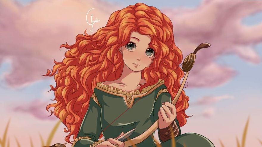 Disney Princess in anime style - YouLoveIt.com
