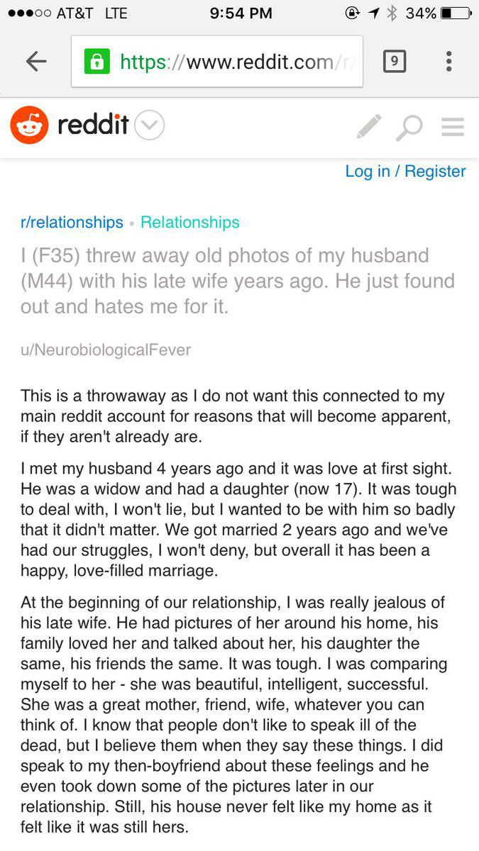 Internet Is Furious Over Jealous Wife Who Asked Reddit For