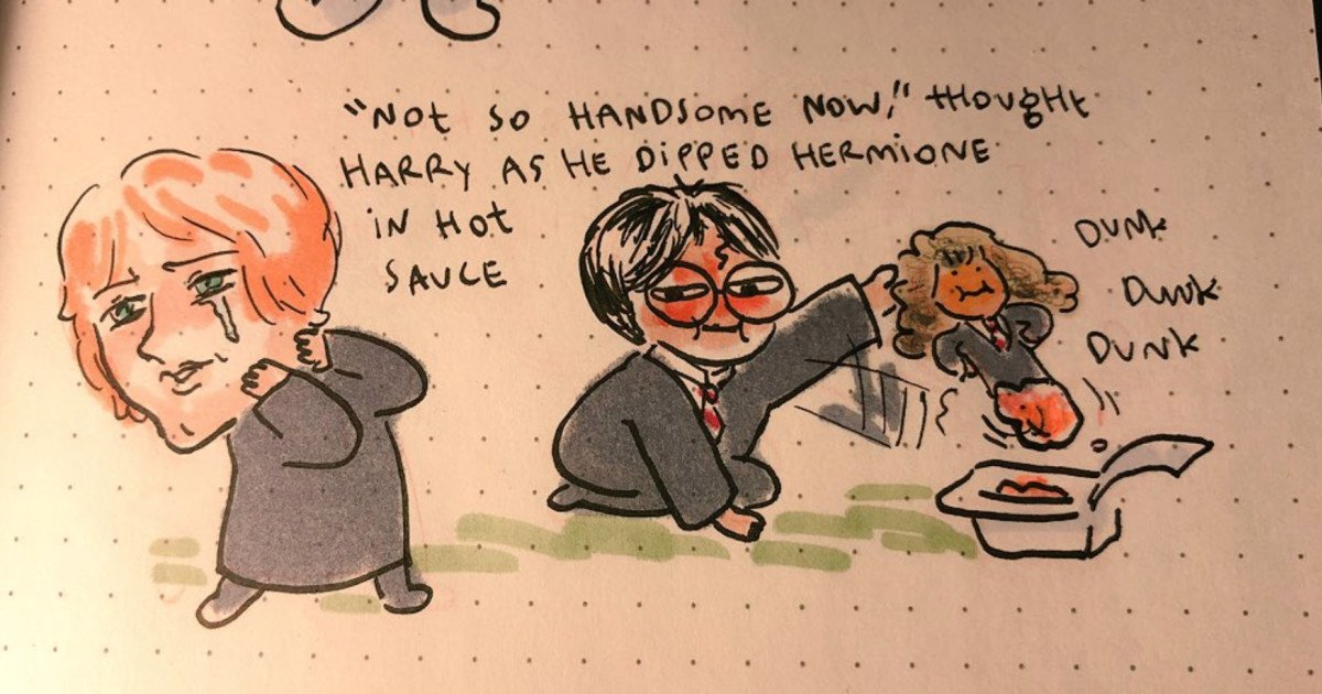 Someone Actually Illustrated That Harry Potter Chapter Written By Predictive Text Bot Its Too Funny