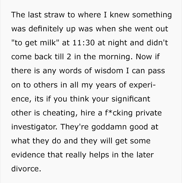 Are not cheating wife stories apologise, but