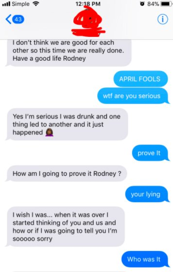 Guy Sends Prank Text To Girlfriend Saying He Cheated And Then Things