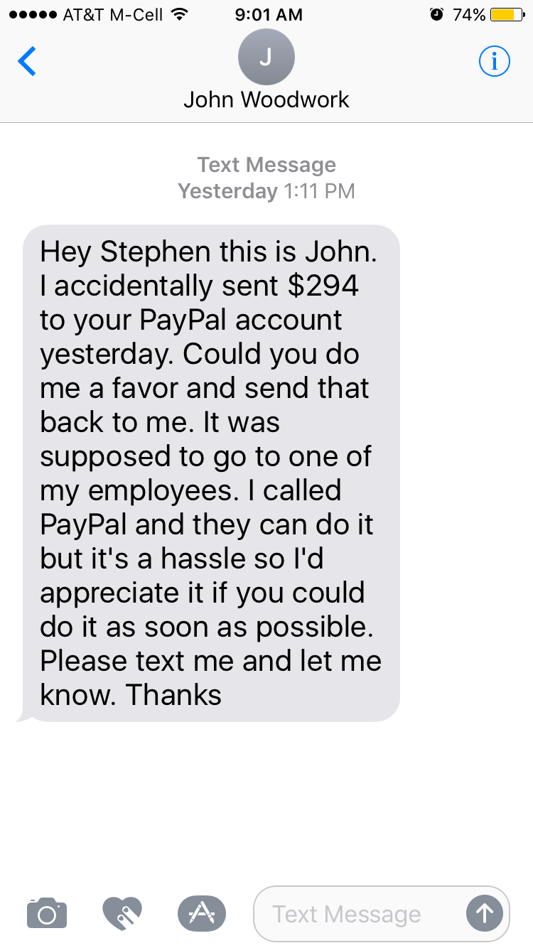 Agree with paypal is an asshole not absolutely